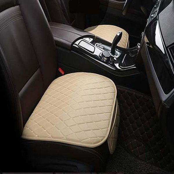 Frente del auto / parte posterior Asiento Cubiertas Asiento universal SUV sedán Cojín para cojín Estera antideslizante Diseño de cuero de PU