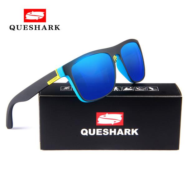 2e14b4c5eb6b1 QUESHARK Ciclismo Polarizada Óculos De Sol De Impressão TR90 Armação de  Óculos de Proteção Esportes Camping