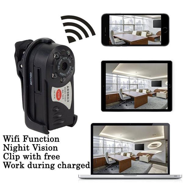 IP Webcam WiFi Mini Kamera DVR Kindermädchen Q7 Wireless Camcorder Infrarot Nachtsicht Bewegungssensor Video Voice Recorder Mirco Cam