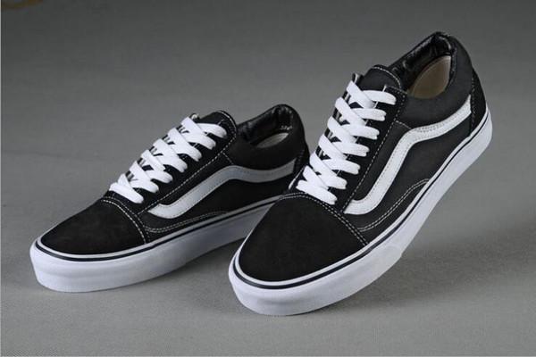 shpping gratis 2018 Clásicos Lona Hombres Mujeres Zapatos casuales Clásico Negro Blanco Zapatos de skate