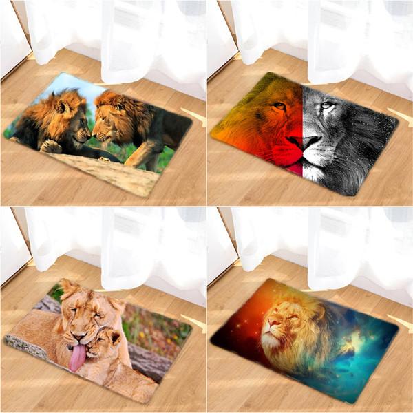 40x60cm Outdoor Animal Color Tiger Wild Animal Zoo Pattern Texture Bath Mat Decor Mat Outdoor Doormat Shower Non-slip Floor Carpet Home De