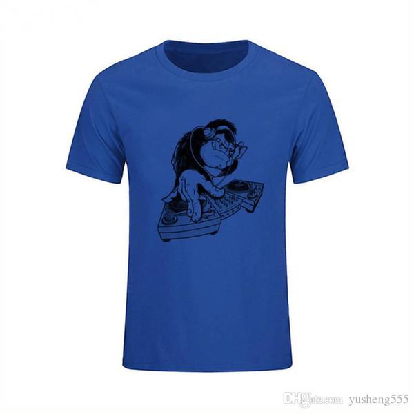 Custom Tees Short O-Neck Tall Mens Monkey Printed T Shirt