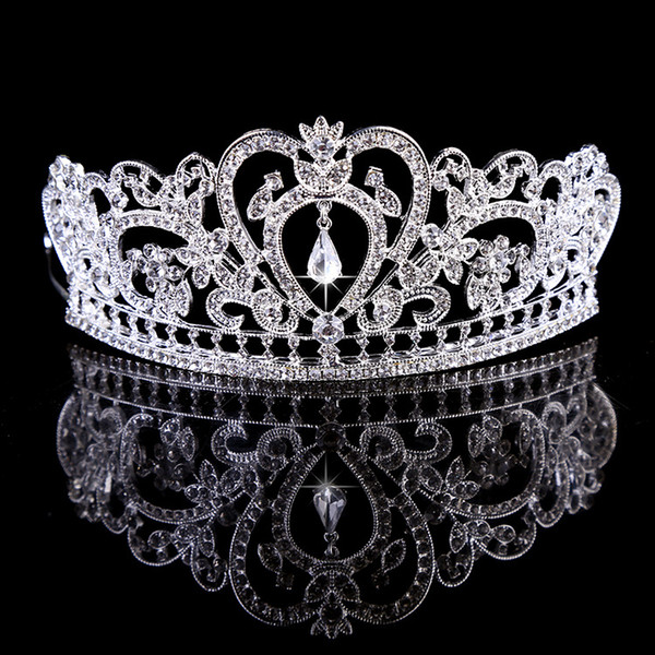Girls Princess Wedding Crowns Silver Bridal Tiaras Hairbands Crystal Rhinestone Gold Tiara Crowns Hair Bands Bridal Hair Jewelry Accessories