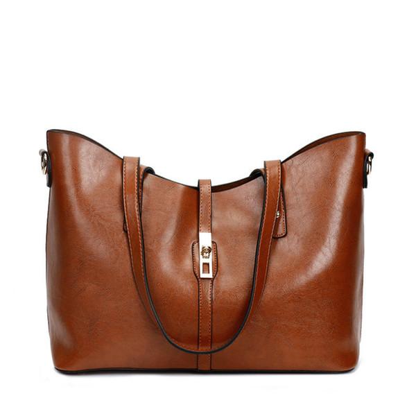 Bolso de mujer nuevo bolso para mujer 2018 Bolso de moda americano grande hombro bolsos de lujo mujer bolsos diseñador retro