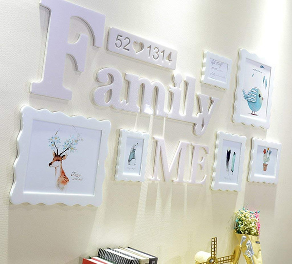 Photo Frame Wall Gallery Kit Includes: Decorative Art Prints,for Interior dining room living room dining room