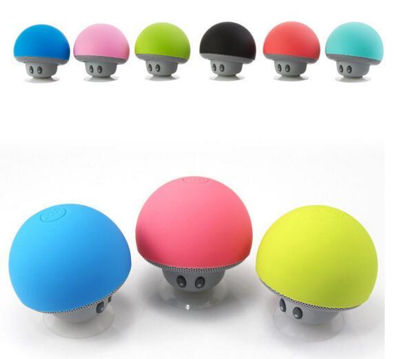 Cheap Price Mushroom head Hands free Bluetooth stereo cute mini wireless Bluetooth portable speaker hot item by dhl