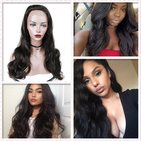 100% top aaaaaaaaa unprocessed virgin remy human hair long natural color body wave full lace wig most popular for women