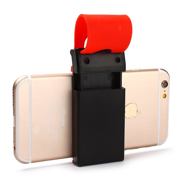 Universal Car Steering Wheel Mobile Phone Stand Holder Mount Clip Buckle Socket Hands Free for iPhone 6 Plus Samsung