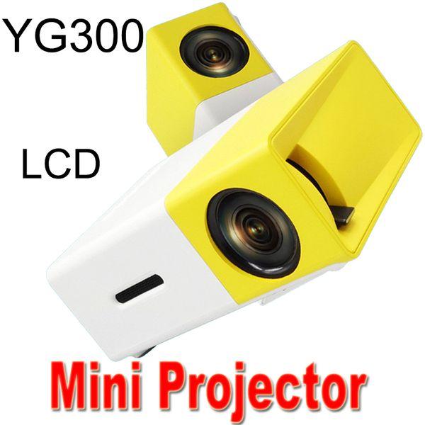 Yg300 lcd led projetor portátil mini 400-600lm 3.5mm mídia de áudio led lâmpada jogador hdmi usb player melhor protetor de casa berço projeto xty-1