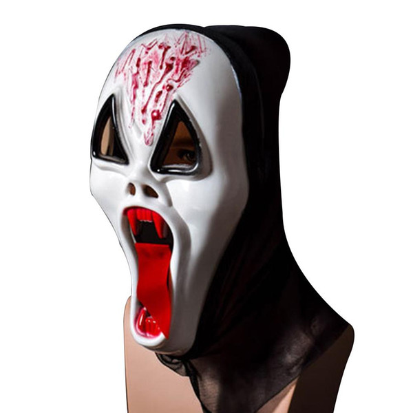 1or 2Pcs Free shipping Ghost Festival Whole Person Halloween Mask Full Face Props Horror Single Devil Mask Masks For Holiday