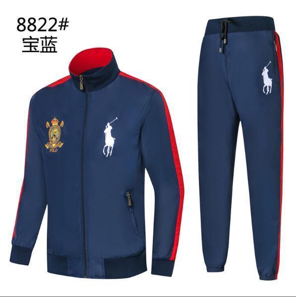 polo Men s Sports Suit Spring and Autumn New Leisure Men s Decoration Body 3 Colour Size M-2XLcm 8822-1 Sports Suit