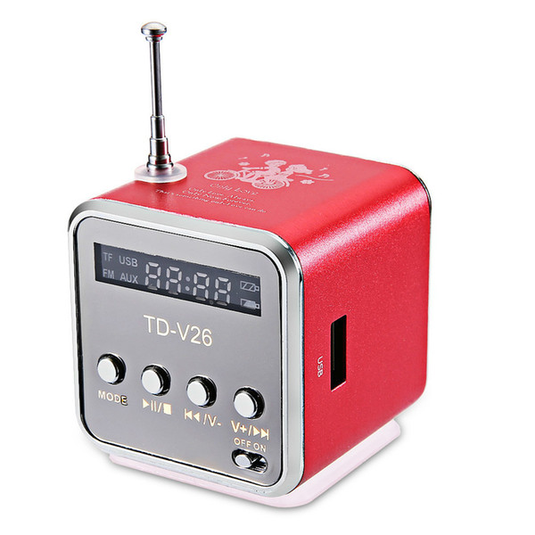 Mini Portable MP3 Player Sound Speaker Digital LCD Sound Micro SD/TF FM Radio Music Stereo Loudspeaker For Laptop Mobile Phone