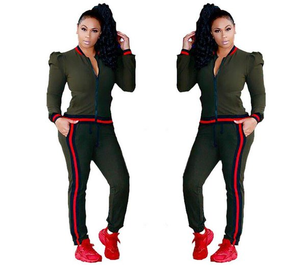 Two Piece Set Fashion Winter Tracksuit Women Full Sweat Suits Long Sleeve Top +Pants 2 Piece Set Women Female