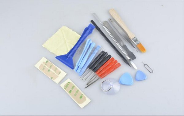 by dhl or fedex 200sets 22 in 1 Open Pry mobile phone accessory bundles Repair Screwdrivers Sucker set Kit For Cell Phone