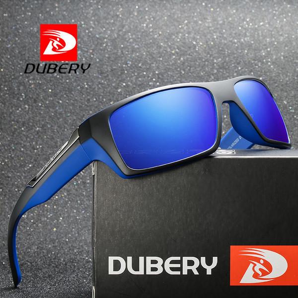 8a0bbd1eaced6 Dubery Brand Polar Bund Pesca esportiva polarizada condução Classic Square  Óculos De Sol UV400 Oculos Eyewear