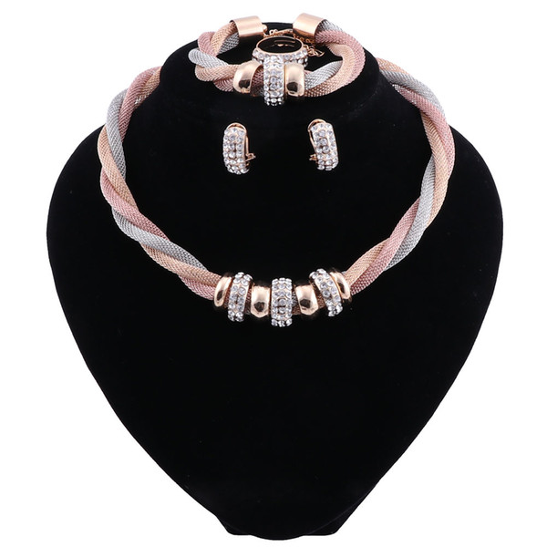 African Beads Jewelry Set Bridal Jewelry Sets For Women Nigerian Wedding Jewelry Vintage Statement Necklace Set