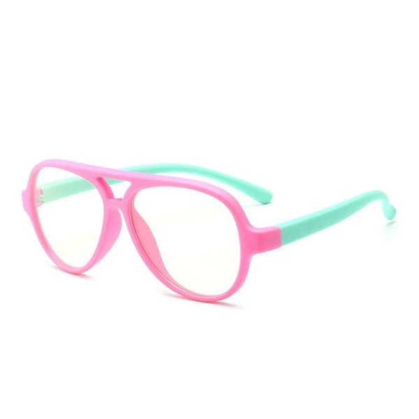 0eb225d4212 Fashion Kids Anti Blue Ray Eyeglasses Children Flexible TR90 Titanium Big Glasses  Frames Boys Girls Pink