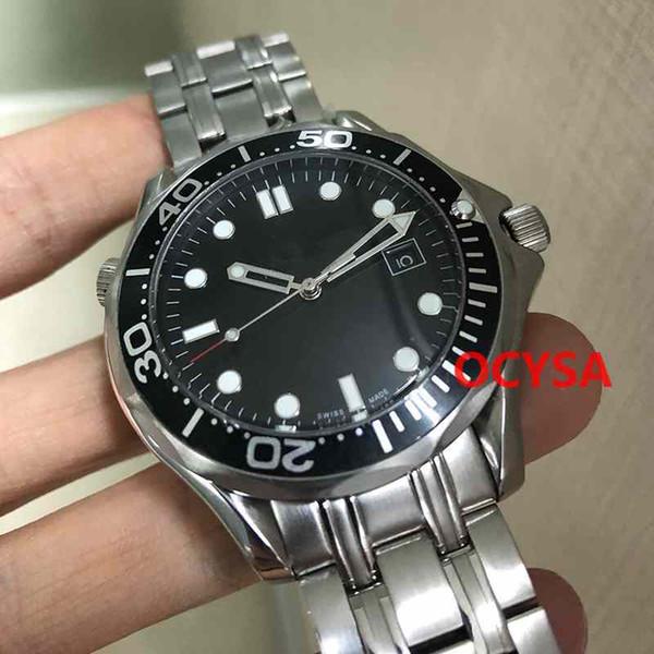 Luxury Stainless Steel 300m James Bond 007 blu quadrante nero automatico orologio da uomo Orologi da uomo Reloj da polso