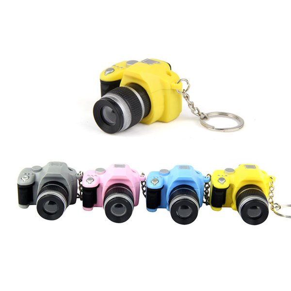 Fancy Fantasy lens novelty Creative SLR camera Led keychains With Kaca sound Key chain Fancy toy Cameras Toy Amazing gift
