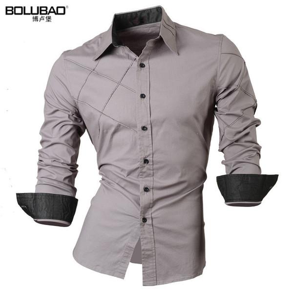 BOLUBAO2017 New Men Shirt Male Dress Shirts Mens Casual Long Sleeve Business Formal Shirt High Quality Oxford