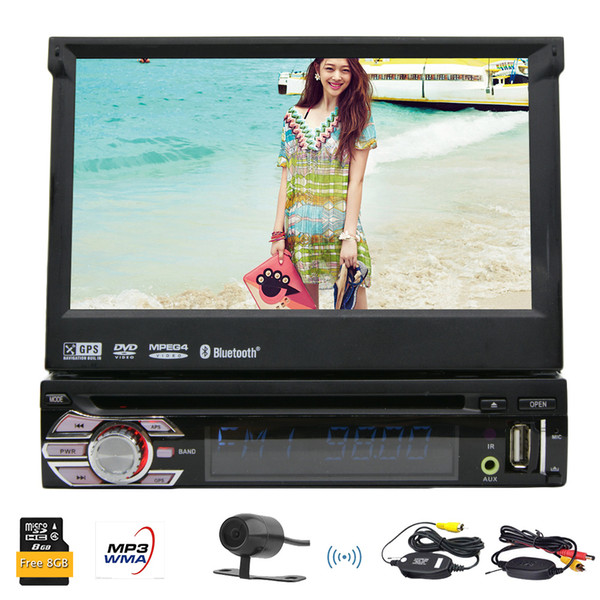 HD digital 7'' Detachable Panel gps car cd dvd player gps navigation Single din car dvd stereo navigator wireless rear camera Headunit car