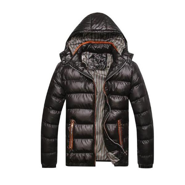 Asstseries New Men Chaqueta de invierno Moda con capucha térmica abajo de algodón Parkas Casual para hombre sudaderas con capucha ropa de marca abrigo cálido