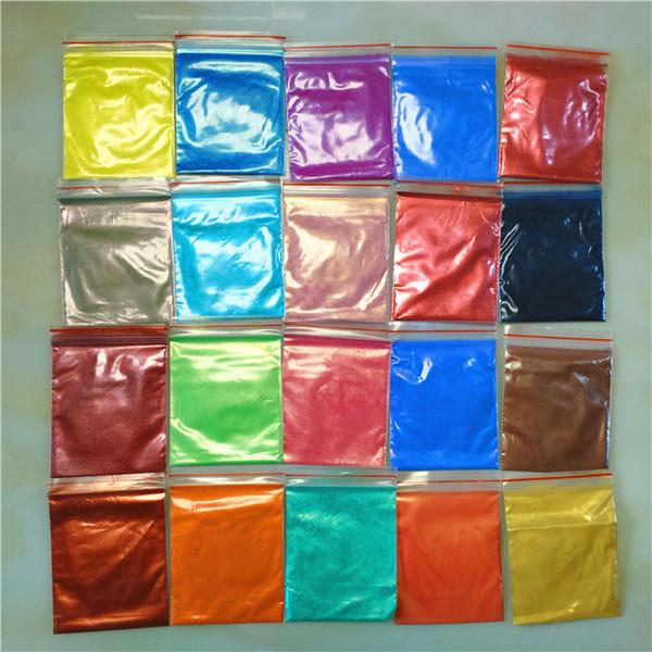 Nouveau 240g Shimmer Mica Pigment Poudre Subtil Shades pour Polymer Clay Paper Artisanat Résine Nail Art