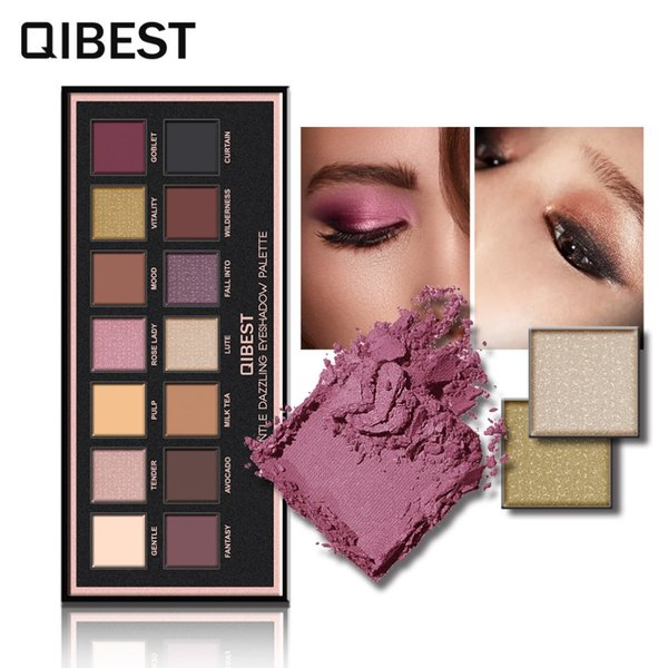 14 colors Eyeshadow Pallete Gorgeous Silky Powder Professional Nature Make up Palette Smoky Warm Matte Shining Eye Shadow
