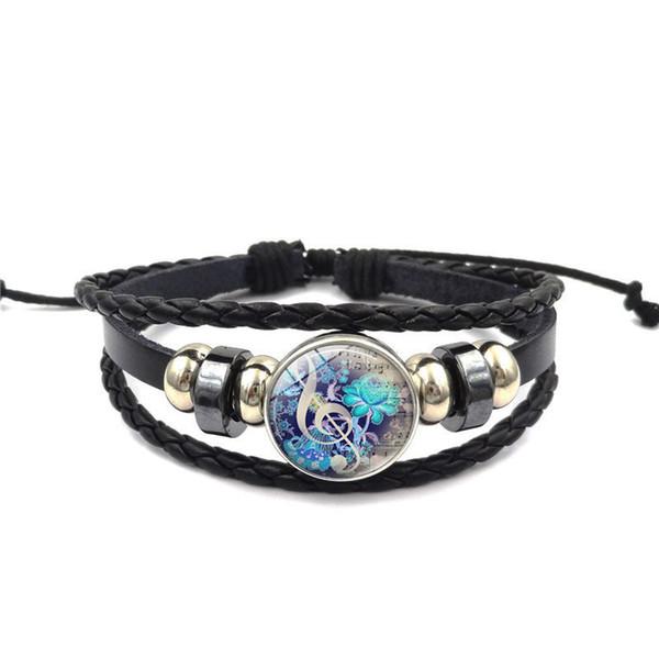 Musical note flower bracelet