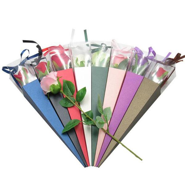 Einzelne rose box einzelne blume box rose geschenkbox urlaub benutzerdefinierte geschenkboxen blumen paket blumenladen gewidmet QW8838