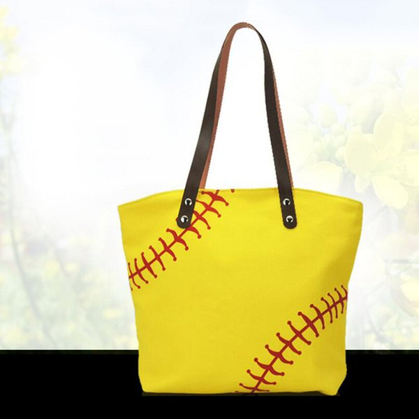 top popular 2018 stock black white Blanks Cotton Canvas Softball Tote Bags Baseball Bag Football Bags Soccer ball Bag with Hasps Closure Sports Bag 2019