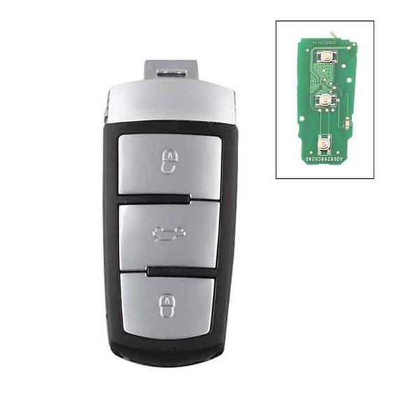 top popular 3Button Smart Car Key for VW Volkswagen Magotan Passat CC 2005 2006 2007 2008 2009 2010 433Mhz 3C0 959 752BA 2021