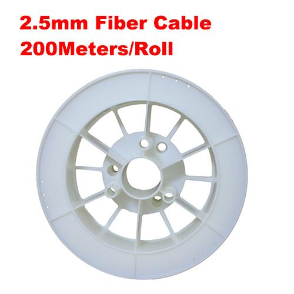 2.5mm diameter 200m/roll Optic Fiber Lights PMMA led fiber optic cable end glow fibers for decoration lighting led fiber lights