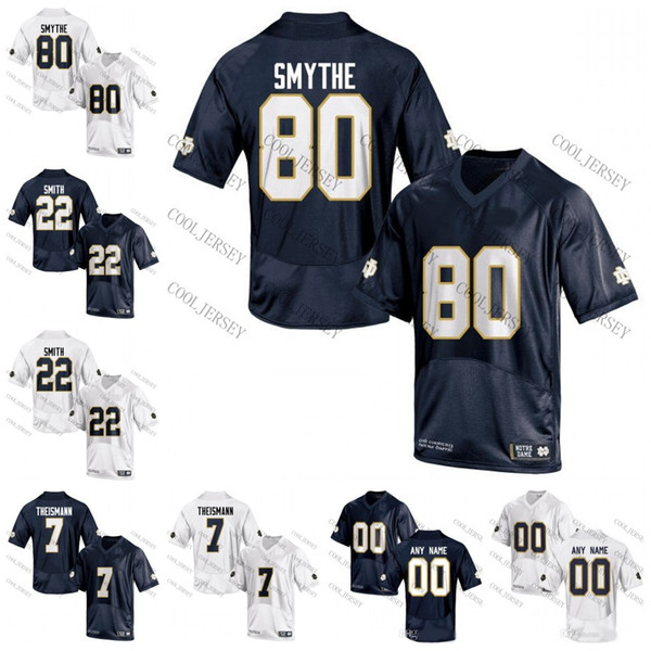 best sneakers 730b1 53973 2018 Ncaa Notre Dame Fighting Irish College Football #80 Durham Smythe 44  Justin Tuck 22 Harrison Smith 7 Jimmy Clausen Navy Blue White Jerseys From  ...