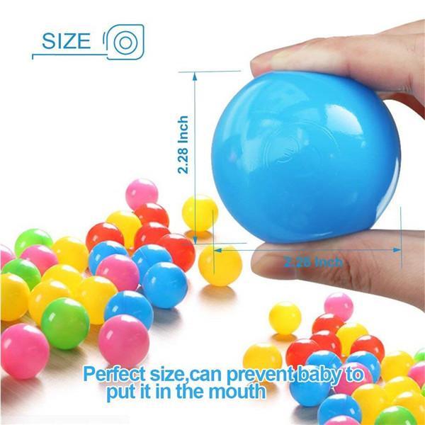 Ocean Balls Baby Kid Swim Pit Toy Colorful Soft Plastic Bulk Pack (100 pcs)