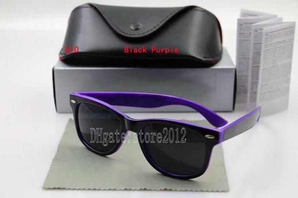 black purple frame black lens