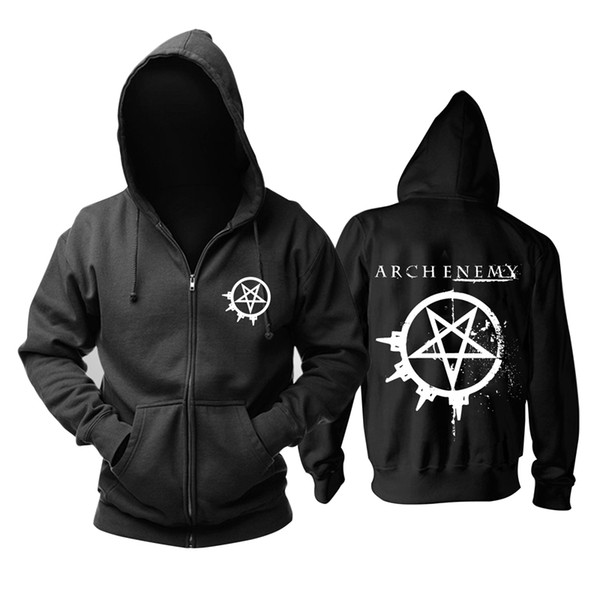 23 kinds Sweden Arch Enemy Rock Zipper hoodies winter jacket punk death sudadera heavy metal black sweatshirt Outerwear fleece