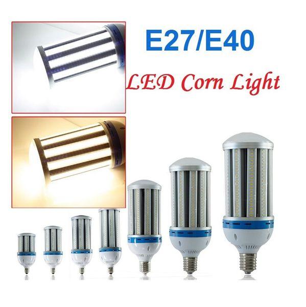 Alta luz de la bahía E27 B22 E40 Adaptación Shoebox Led luz de maíz 24W 36W 50W 60W 100W 120W Lámparas colgantes Tienda de la escuela Almacén de iluminación