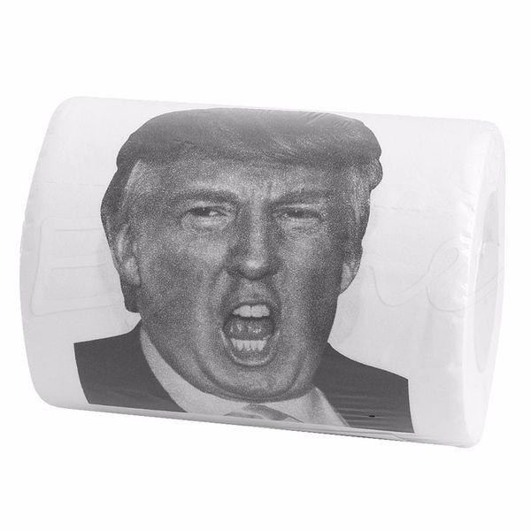 Donald Trump Humor Toilettenpapierrolle Neuheit Lustige Gag Geschenk Dump mit Trump 5pcs / lot Küche Zubehör