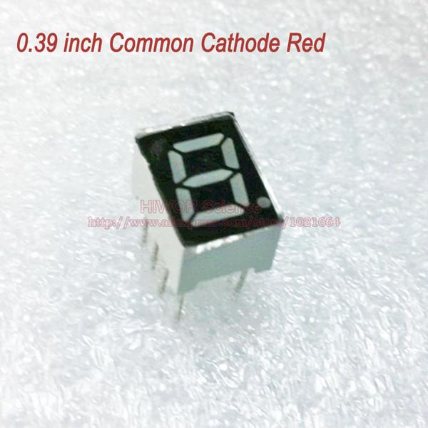 (10 adet / grup) 10 Pins 3911AR 0.39 Inç 1 Bit Haneli 7 Segment Kırmızı LED Ekran Paylaş Ortak Katot Dijital Ekran