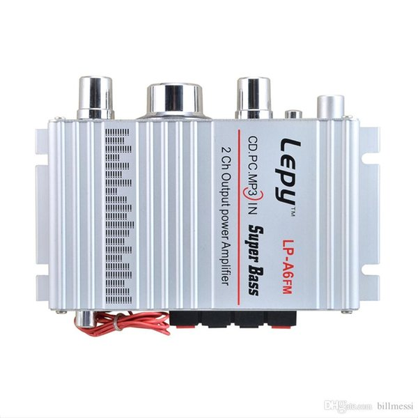 LP - A6 Mini Hi-Fi Stereo Output Power Amplifier Support FM Fuction for Car Mobile phone MP3 MP4 PC Supports Volume Control +B