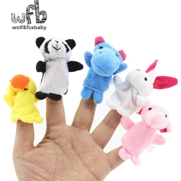Retail 10pcs/pack Baby Plush Toy,Finger Puppets,Talking dolls Props educational 10 Animal Group 2014 Free Shipping