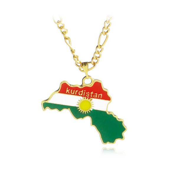 Kurdistan Karte 2019.Grosshandel Kurdistan Karte Anhanger Halskette 18 Karat Vergoldete Halskette Fur Manner Geschenk Mode Halskette Schmuck Heisser Verkauf Von Shinyy