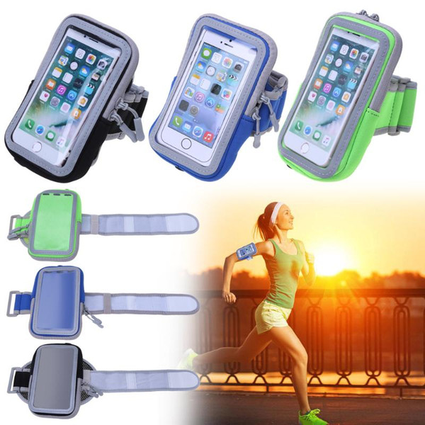 Phone Sport Running Armband Armbag For X 8 7P 6S 6 5S Holder Touch Screen Arm Band Bag Cover Case For S8
