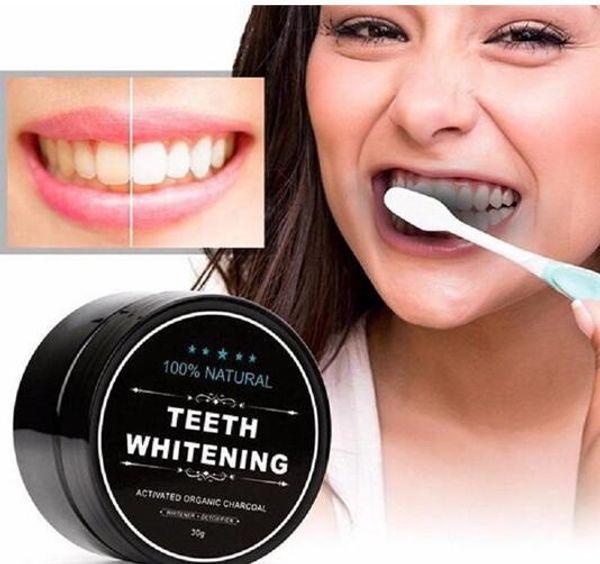 Vendita calda polvere per sbiancamento dei denti natura bambù carbone attivo sorriso polvere decontaminazione dente giallo macchia di bambù dentifricio cura orale