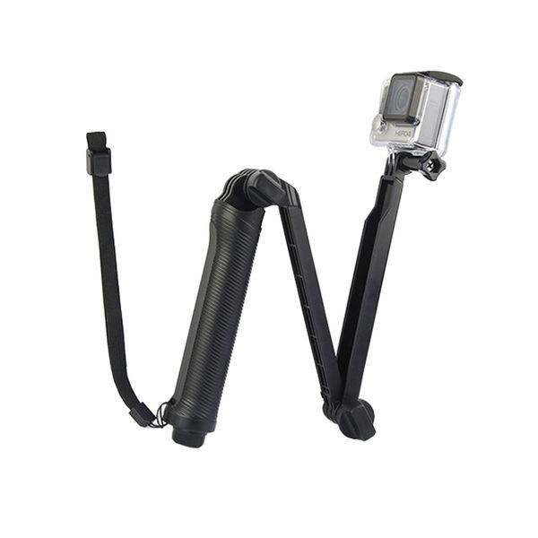 Foldable 3 Way Grip Waterproof Monopod Handheld Selfie Stick For SJ4000 Xiaomi Yi 4K portable selfie sport Camera Tripod Mount Accessory