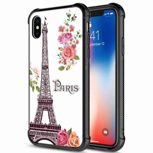 Fashion floral flower Tempered Glass rubber rugged corner protect case cover skin for J2 Prime J5 Prime J7 Prime