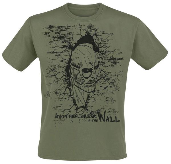 482c1648 Attack On Titan Breaking The Wall T Shirt Khaki Denim Clothes Camiseta?T  Shirt Cat Windbreaker Pug Tshirt Trump Sweat Sporter T Shirt Popular T  Shirt ...