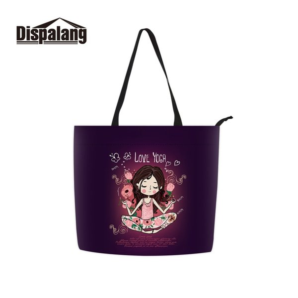 dispalang chinese factory long handle cotton woven shopper casual lager capacity tote bag for girl college student's cute gifts