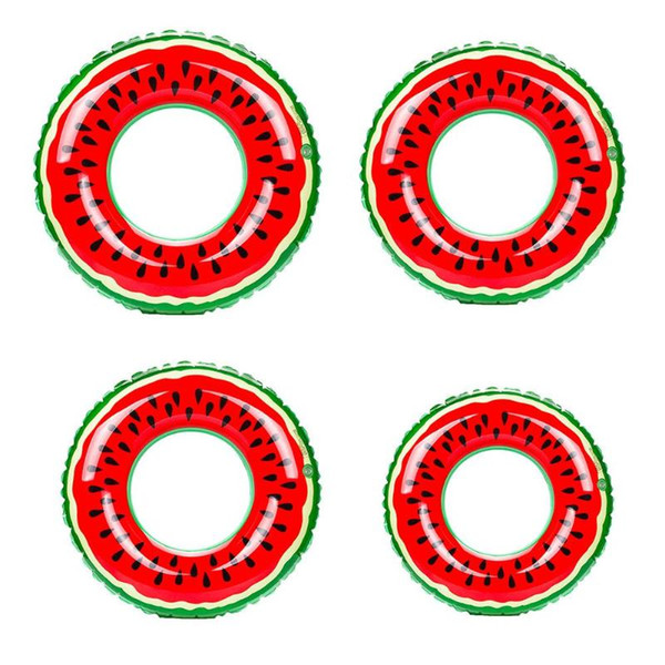 Watermelon Inflatable Adult Kids Swimming Ring Inflatable Pool Float Circle for Adult Children Floating Waist Swim Pool Tool